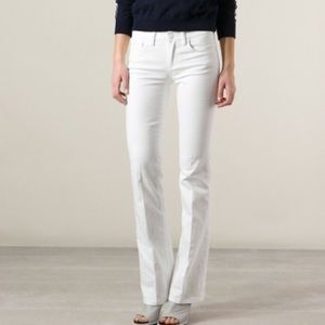 Tory Burch Classic Tory Boot white jeans